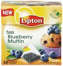 Lipton Blueberry Muffin Flavor Tea 20 Silk Pyramid Bags
