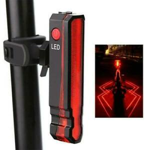 Mountain Bike Bicycle Laser Rear Light 5 LED Tail Light Cycle Lamp Rechargeable