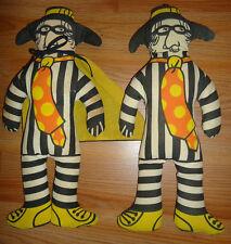 McDonald's Hamburglar vintage stuffed plush character Dolls lot of 2 (as is)