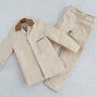 Ken Barbie Sleeper Set Pajamas Mattel 781 Brown White Stripes Vintage