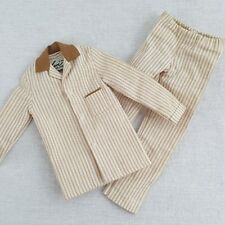 Ken Sleeper Set Pajamas Mattel 781 Brown White Stripes Vintage
