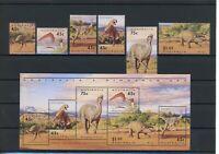 Australien MiNr. 1370-75 I, Block 15 postfrisch MNH Dinosaurier (Q787