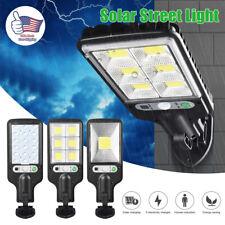 600W LED Solar Wall Light Motion Sensor Outdoor Garden Security Street Lamp IP65