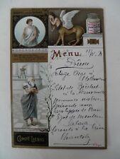 Alte Liebig Menükarte 1898 OEDIPUS und die SPHINX (3) Speisekarte