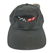 Chevrolet Corvette Official Licensed Hat Distressed Baseball Cap Car Black New