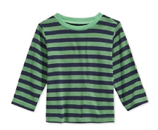 First Impressions Baby Boys Striped Thermal T-Shirt, Paradise Green, Size 18M