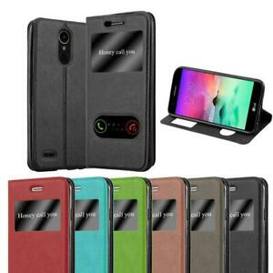 Case for LG K10 2017 Phone Cover Viewing Windows Wallet Book