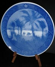 "Vintage 1972 Royal Copenhagen Porcelain Christmas Plate ""In The Desert"""
