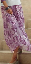 J.Jill Inked Floral Linen Skirt   8P  NWT   $119  Amethyst Inked Floral