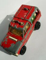 "Majorette Red Range Rover Passengers ECH 1/60 No 246 Made In France 3"" Rare"