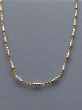 "ITALIAN 925 STERLING SILVER TWO TONE CHAIN/NECKLACE- 16"" 18"" 20""- GOLD/SILVER"