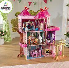 KidKraft Storybook Villa, Casa delle Bambole in Legno per Bambole Barbie dimensioni