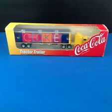ERTL 1997 PETERBILT COCA COLA TRACTOR & TRAILER 1/64 DIECAST FREE SHI[