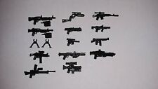 Brickarms 15 piece pack weapons for LEGO Minifigures Machine Guns,SMGs,Blasters3