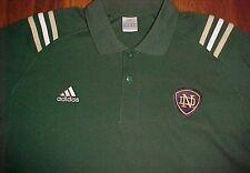 Notre Dame Fighting Irish Football adidas Three Stripes Green Logo Polo Shirt L