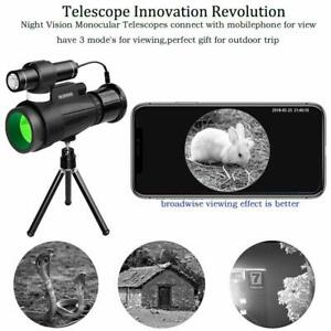 12x50 Wifi IR Infrared Night Vision Monocular Telescope fits for Hunting Camping