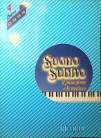 SUONO SUBITO di Franco Bignotto Volume 4 lezioni 13-14-15-16 Ricordi 1983