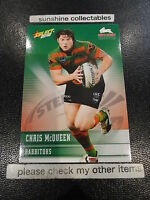 2012 NRL SELECT CHAMPIONS BASE CARD NO.152 CHRIS MCQUEEN RABBITOHS