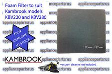 Kambrook KBV220 KBV280 Foam Filter Part No KBV280/01.19 - NEW - GENUINE