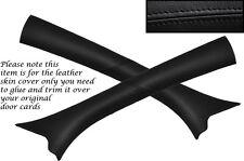 Black stitch 2x PARE-BRISE un pilier de la peau couvrir fits Vauxhall Opel Corsa C 00-06