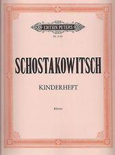 Schostakowitsch - KINDERHEFT: Sechs sehr leichte Stücke für Klavier zu 2 Händen