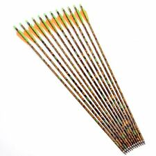 """12pcs 30"""" Camouflage Aluminum Arrows 8.8mm Shaft for Compound Bow & Long Bow"""