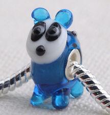 1pcs SILVER MURANO GLASS BEAD LAMPWORK Animal European Charm Bracelet DW072