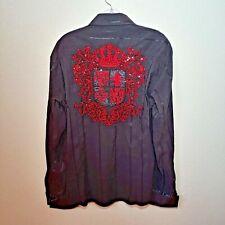 Mondo Black & Red  Men's X-Large Button-Down Long sleeve Shirt