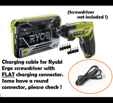 FLAT Charging Cable for Ryobi ERGO Cordless Screwdriver 4v Battery Charger
