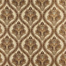 A0016E Beige Brown Gold Ivory Traditional Brocade Upholstery Fabric By The Yard
