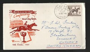 1960 Australia Melbourne Cup. Horse Racing FDC. Adelaide First day cover