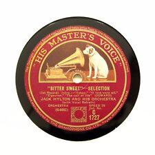 """JACK HYLTON & son orchestre """"BITTER SWEET"""" 12"""" HMV C-1727 [78 tours]"""