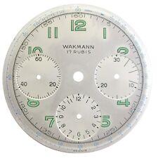 Vintage Wakmann Venus 178 Dial Part 17 Rubis Triple Register Chronograph