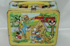 Vintage Walt Disney Mickey Mouse Club Metal Lunch Box No Thermos
