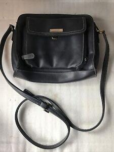 Liz Clairborne Blue Bag Pocketbook Cross Body Adjustable - clean