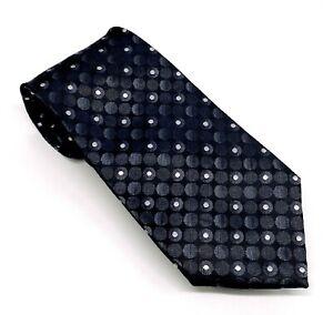 New Classy John Ashford Polka Dot Poly 59 x 3.5 Black Gray Handmade China