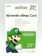 Carte Nintendo eShop 25€ pour Compte FR & EU Switch / Wii U / 3DS