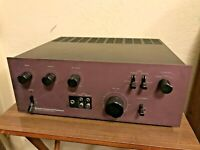 MCS 3837 / NEC AUA-6000E Rare Purple Face Vintage Integrated Amplifier - WORKS!