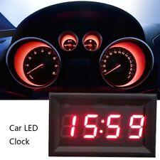 12V/24V Car Scooter Motorcycle Accessory Dashboard LED Display Digital Clock BIN