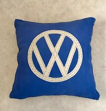 Bespoke handmade leather filled cushions. various designs, volkswagon, poker