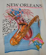 vtg 90s Starter NEw Orleans Louisiana jazz neon french quarter Roomy Large L