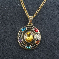 For Marvel Avengers Thanos Infinity Stones Necklace Alloy Metal Pendant Chain