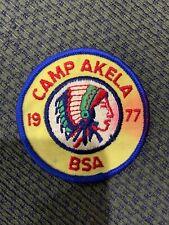 1977 Camp Akela Patch BSA