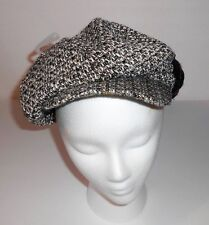 Icing Ladies Tweed Metallic Newsboy Cabbie Hat Cap Brown Multi One Size NWT