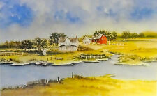 """Victor Mirabelli Poster Print """"Serenity by a Stream"""""""