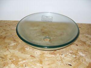 Roper Rhodes Reflex Clear Glass Vessel Basin (fits onto worktop)