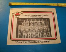 Pizza Hut / Hope College Basketball Vintage 1979 Placemat  Holland, Michigan