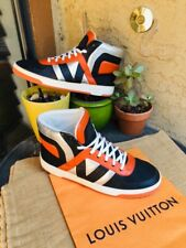AUTH LOUIS VUITTON MENS SHOES DAMIER SNEAKERS US SIZE 9.5 MADE IN ITALY