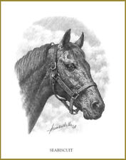SEABISCUIT - THOROUGHBRED HORSE RACING LEGEND -  ART PRINT by JAMES WALLS
