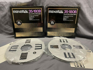 """2 Maxell UDXL 35-180B10.5"""" Metal Reel to Reel Tapes in Boxes 1/4"""" audio tape"""